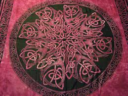 unique tapestry wall hangings for wall decor pink celtic knot mandala red meval wicca hippie