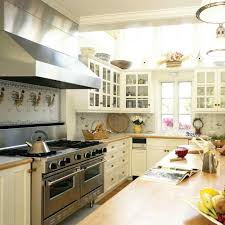 white country kitchen with butcher block. White Country Kitchen With Butcher Block .