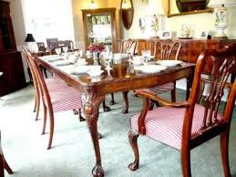 antique carved gany chippendale inlaid dining room set w 6 chairs ebay