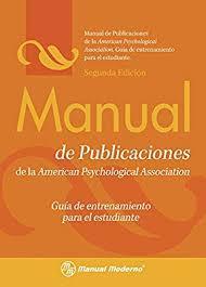 Apa Para Manual De Publicaciones De La Apa Gui A De Entrenamiento