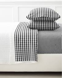 i absolutely do not need another pair of pajamas but i am crazy for gingham crazy for it i love the white piping too serena lily sheets