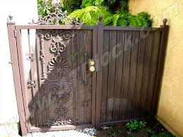 Lovely Wrought Iron Fence Gate 20 6 Gates 7 anadolukardiyolderg