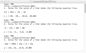 three linear equations with both integer coefficients and an integer solution