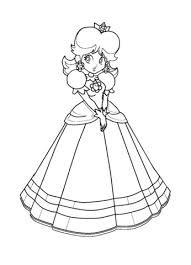 デイジー姫 ぬりえ