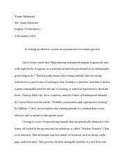 english city college of new york course hero 7 pages critical lens essay cloning docx
