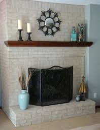 painting inside brick fireplace