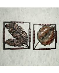 tropical leaf metal wall art set set of two on tropical wall art sets with don t miss this bargain tropical leaf metal wall art set set of two