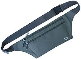 NAOKI LOVE Waist Pack <b>Bag</b> Ultrathin Hide <b>Purse Outdoor Sports</b> ...