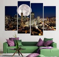 4 panels unframed landscape oil painting by number canvas wall art hanging picture home decor on number canvas wall art with  4 panels unframed landscape oil painting by number canvas wall art