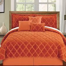 piece comforter set color burnt orange