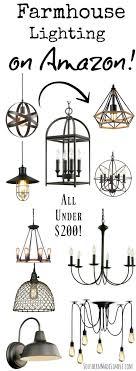 styles of lighting. farmhouse light fixtures under 200 on amazon styles of lighting