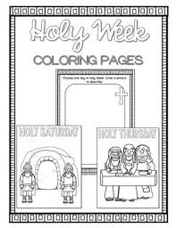 This detailed illustration would be ideal for older children or even adults. Holy Week Coloring Pages Distance Learning By Countless Smart Cookies