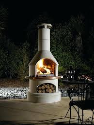 large outdoor fireplace metal