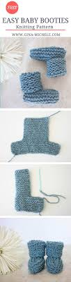 Easy Baby Booties Knitting Pattern