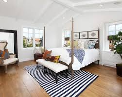 coastal bedroom with beach house striped area rug beach house bedroom furniture