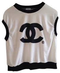chanel shirt. chanel t shirt black on white