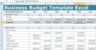 Business Budget Spreadsheet Business Budget Template Excel Free Excel Spreadsheets And