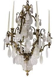 a stunning 19th century russian rock crystal chandelier