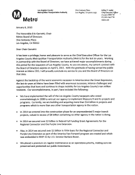 lacmta ceo art leahy resignation letter general committee of lacmta ceo art leahy resignation letter