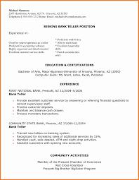 Bank Teller Resume Sample Beautiful Resume Banking Free Sample Bank