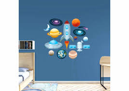 rocket wall decals outer space collection wall decal shop for general kids outer  space collection fathead . rocket wall decals new design nursery stars moon  ...