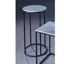 Slimline Bedroom Furniture Slimline Retro Marble Side Tables With Black Frame Retro