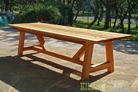 outdoor table plans foot long table with outdoor wood folding table plans free