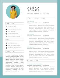 Creative Resume Template Designer Resume Stylist Resume Artist