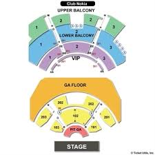 Club Nokia Seating Chart 36 Matter Of Fact Nokia Theatre Seating Chart View