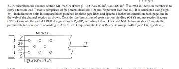 Solved Workable Gages In Angle Legs Aisc P 1 52 Inche