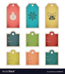 Winter Holiday Gift Tag Template