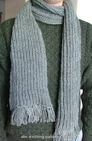 Ribbed Scarf Pattern Custom ABC Knitting Patterns Fisherman's Rib Scarf