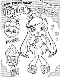 Shopkins Coloring Pages Shoppies Design Templates