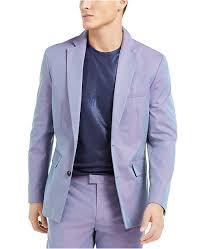 Macys Mens Suit Size Chart Inc Mens Onyx Slim Fit Iridescent Blazer Created For Macys