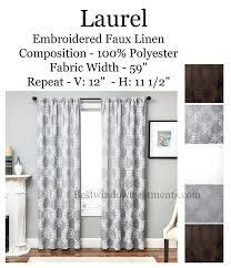 laurel embroidered linen curtains in brown white grey natural colors dries style natural linen curtains