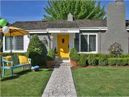 white front door yellow house. Blue Grey House Yellow Door White Front N