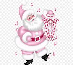 Pink Christmas Card Christmas Card Pink Clip Art Santa Claus Carrying A Bird Png