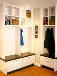 Corner Cubby Bench Coat Rack Modern Corner Mudroom Bench With Storage Drawers Plus Bookshelves 30