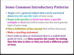 opening paragraphs start out a wow ppt video online some common introductory patterns 4 introductory paragraphs in essay exams
