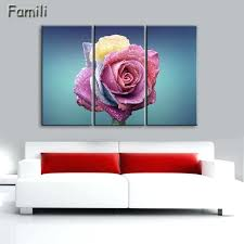 three piece wall art red rose canvas painting 3 piece wall art picture for wall decor three piece wall art