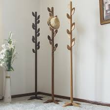 Buy Coat Rack Online New Fashion 100% Oak tree coat rack Living room furniturewooden 3