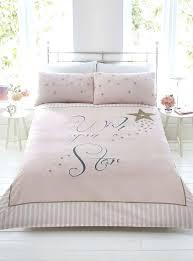 pink stripe duvet pink and gold comforter set lovely wish upon a star pink gold stripe