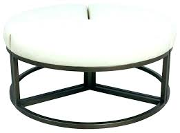 cocktail ottoman round tables leather amazing storage r