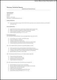 Pharmacy Tech Resume Template Retail Pharmacy Technician Resume Pharmacy Technician