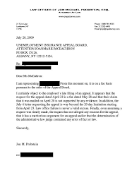 Sample Appeal Letter For Unemployment Denial Example Good Resume
