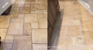 picture of a recent mesa az stone tile and grout cleaning project
