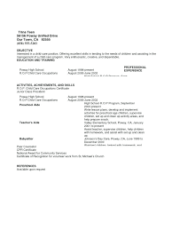 Nanny Resume Template Gorgeous Baby Sitter Job Transform Live In Nanny Resume Example About