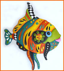 tropical fish wall hanging hand painted metal whimsical art decor colorful funky art on metal wall art decor tropical with tropical fish wall hanging hand painted metal whimsical art decor