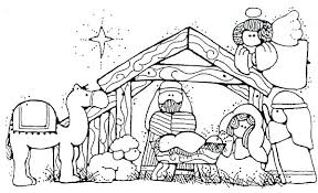 Nativity Coloring Pages Printable Redleatherbookinginfo