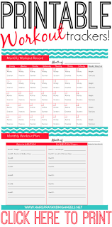 Workout Goal Chart Fitness Tracker Printable Workout Calendar Fitness